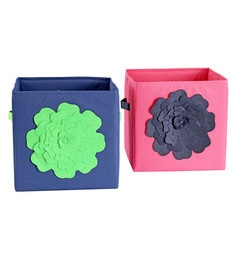 My Gift Booth Flower Non-Woven Storage Bins - Set Of 2 - 1627369