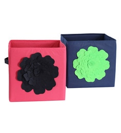 My Gift Booth Flower Non-Woven Storage Bins - Set Of 2