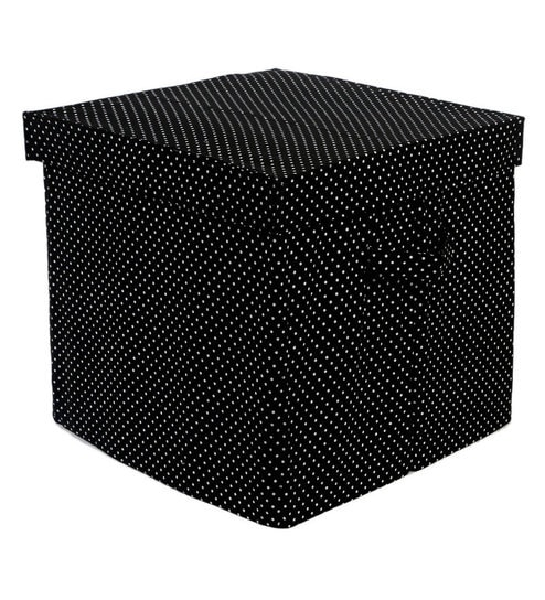 My Gift Booth Black 10 L Lidded Storage Box