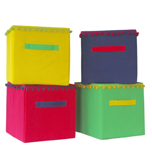 Buy My Gift Booth Multicolour 10 L Storage Box - Set of 4 Online ... 51c9ab4a8ed62