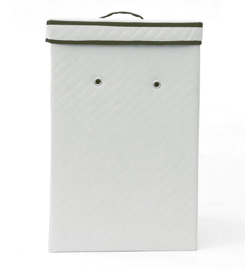 My Gift Booth White 50 L Quilted Laundry Box