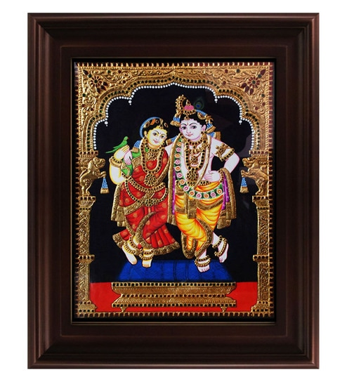 Modern Art Krishna Rukmini Paintings