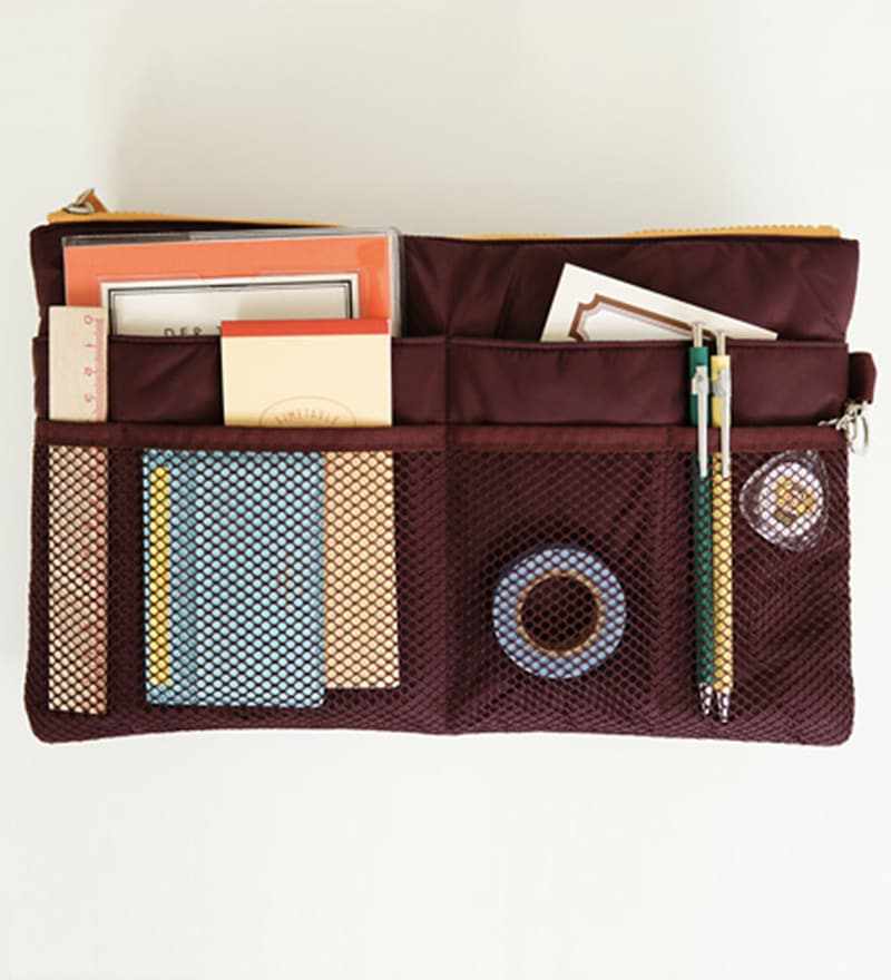 My Gift Booth Nylon Brown Purse Organiser