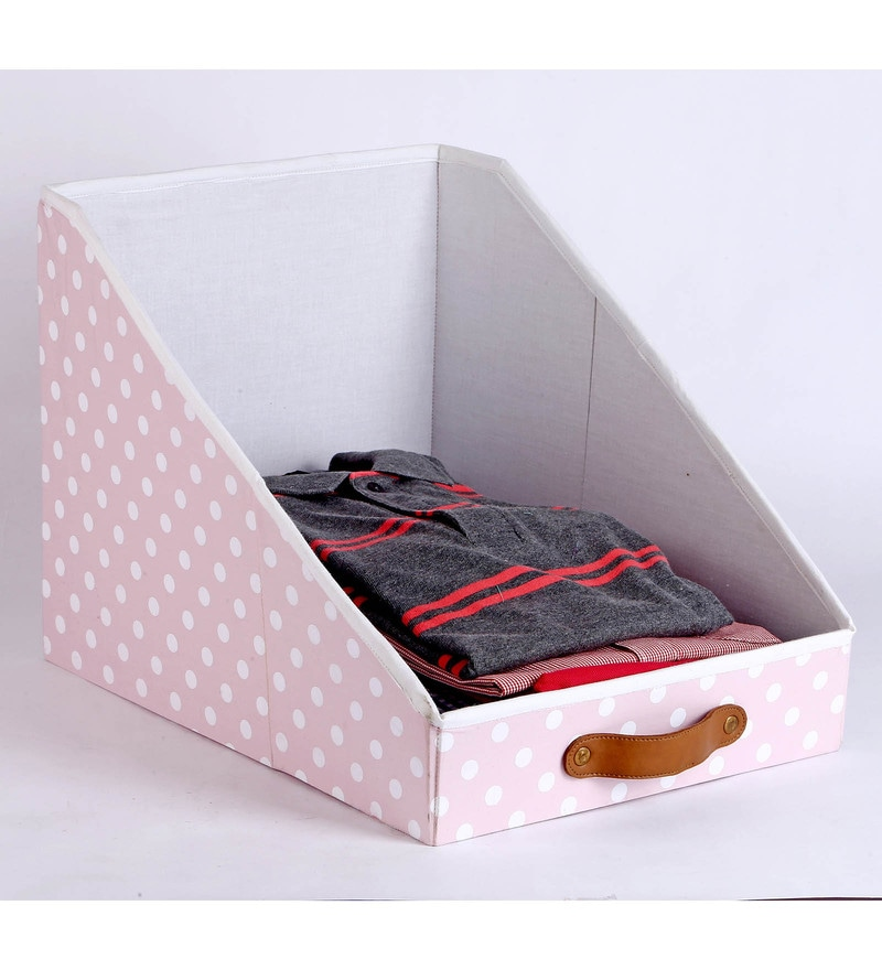 Cotton & Mdf Baby Pink Clothing Storage Bin by My Gift Booth