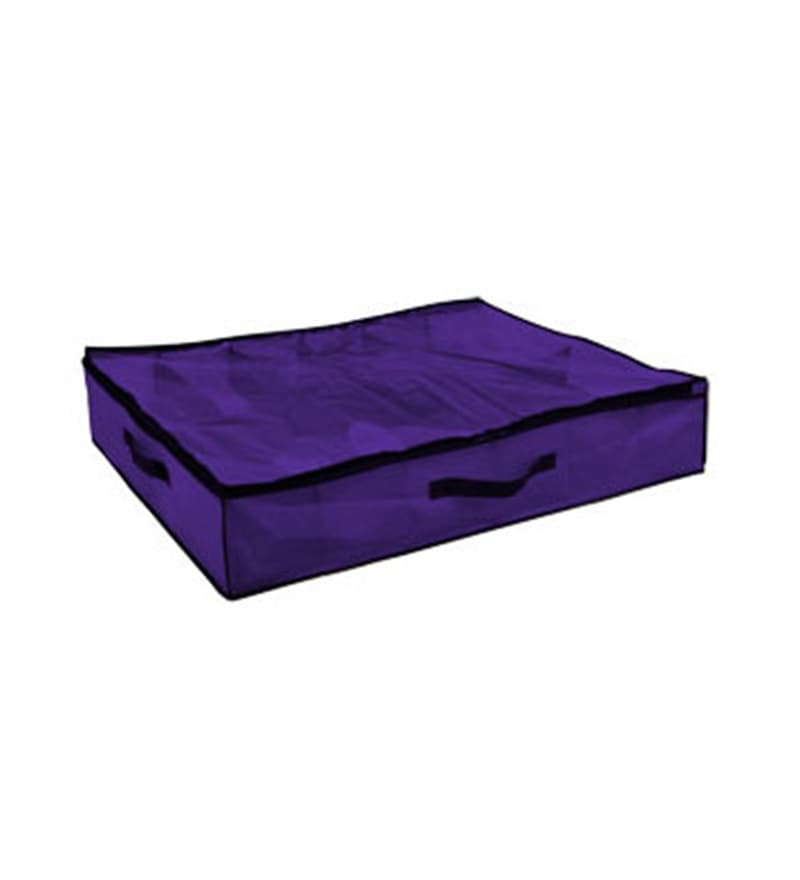 My Gift Booth Non-Woven Purple Under Bed 10 Slots Shoe Organiser