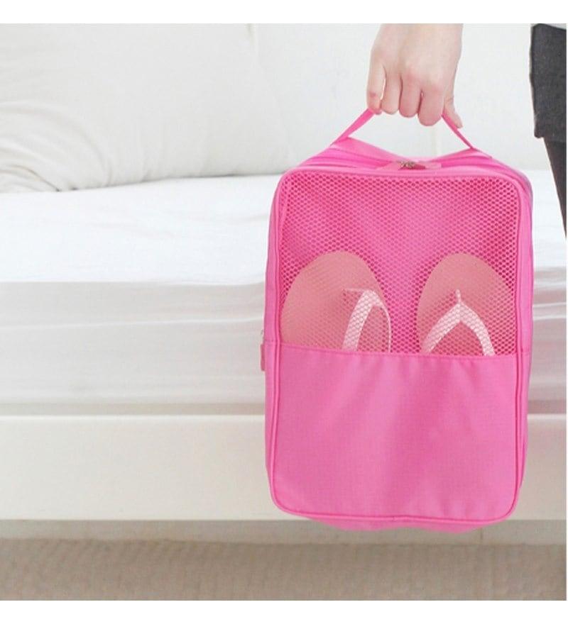 My Gift Booth Nylon Pink Shoe Organiser