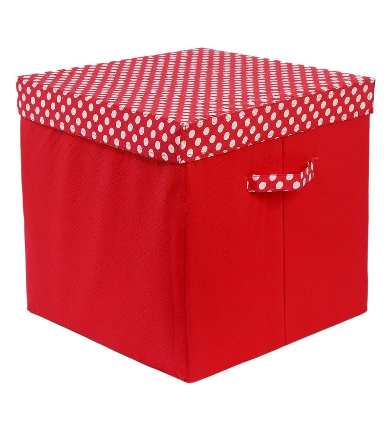My Gift Booth Red 10 L Lidded Storage Box
