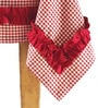 My Gift Booth All Frill Red Cotton Table Cover