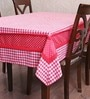 My Gift Booth Check Red Cotton Table Cover