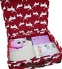 My Gift Booth Deer Print Canvas Maroon 30 L Storage Chest