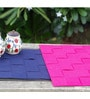 My Gift Booth Navy Blue & Pink Felt Placemats - Set of 6