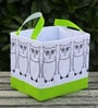My Gift Booth Owl Felt White & Lime Green 10 L Storage Box