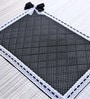 My Gift Booth Polka Black Cotton Table Mat - Set of 6