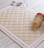 My Gift Booth Quilted S Multicolour Canvas Table Mat - Set of 6