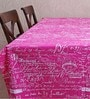 My Gift Booth Vintage Print Pink Cotton Table Cover