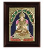 Multicolour Gold Plated Annapoorani Framed Tanjore Painting by MyAngadi