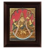 Multicolour Gold Plated Antique Saraswathi Framed Tanjore Painting by MyAngadi