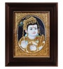 Multicolour Gold Plated Butter Krishna Framed Tanjore Painting by MyAngadi