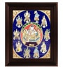 Multicolour Gold Plated Dasavatharam Framed Tanjore Painting by MyAngadi