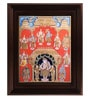 Multicolour Gold Plated 18 Inch Dasavatharam Framed Tanjore Painting by MyAngadi
