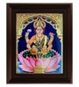 Multicolour Gold Plated 2.9 X 14 X 18 Inch Dhana Lakshmi Framed Tanjore Painting by MyAngadi