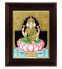Multicolour Gold Plated Dhana Lakshmi Framed Tanjore Painting by MyAngadi
