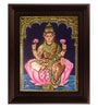 Multicolour Gold Plated Dhana Laxmi Framed Tanjore Painting by MyAngadi