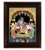 Multicolour Gold Plated Durbar Krishna Tanjore Framed Painting by MyAngadi