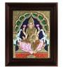 Multicolour Gold Plated Gaja Laxmi Framed Tanjore Painting by MyAngadi