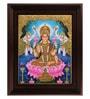 Myangadi Multicolour Gold Plated 2.9 X 14 X 18 Inch Gaja Lakshmi Framed Tanjore Painting