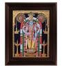 Multicolour Gold Plated Guruvayoor Krishna Framed Tanjore Painting by MyAngadi