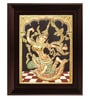 Multicolour Gold Plated Indonesia Sita Plywood & Cloth Framed Tanjore Painting by MyAngadi