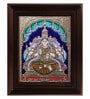 Multicolour Gold Plated Iswarya Lakshmi Plywood & Cloth Framed Tanjore Painting by MyAngadi