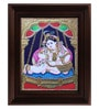 Multicolour Gold Plated Krishna Swinging Framed Tanjore Painting by MyAngadi