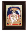 Multicolour Gold Plated Krishna with Snake Framed Tanjore Painting by MyAngadi
