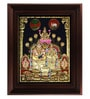 Multicolour Gold Plated Kubera Laxmi Plywood & Cloth Framed Tanjore Painting by MyAngadi