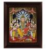 Multicolour Gold Plated Lakshmi Narasimhar Framed Tanjore Painting by MyAngadi