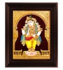 Multicolour Gold Plated Mappillai Krishna Framed Tanjore Painting by MyAngadi