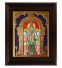 Multicolour Gold Plated Meenakshi Framed Tanjore Painting by MyAngadi