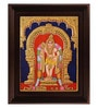 Multicolour Gold Plated Murugan Plywood & Cloth Framed Tanjore Painting by MyAngadi