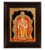 Myangadi Multicolour Gold Plated 2.9 X 14 X 18 Inch Murugan Framed Tanjore Painting