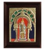 Myangadi Multicolour Gold Plated Alangaram Plywood & Cloth Framed Tanjore Painting