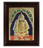 Multicolour Gold Plated Pillayarpatti Ganesha Framed Tanjore Painting by MyAngadi