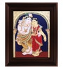 Multicolour Gold Plated Radha Krishna Plywood & Cloth Framed Tanjore Painting by MyAngadi