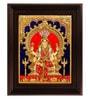 Myangadi Multicolour Gold Plated Renuka Devi Framed Tanjore Painting