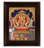 Multicolour Gold Plated Santhoshi Mata Framed Tanjore Painting by MyAngadi
