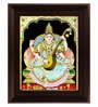 Multicolour Gold Plated Saraswathi Plywood 2.9 X 14 X 18 Inch Framed Tanjore Painting by MyAngadi