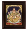 Multicolour Gold Plated Saraswathi Framed Tanjore Painting by MyAngadi
