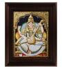 Multicolour Gold Plated Saraswathi Framed Tanjore Painting by MyAngadi