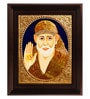 Multicolour Gold Plated 2.9 X 14 X 18 Inch Shirdi Sai Baba Framed Tanjore Painting by MyAngadi
